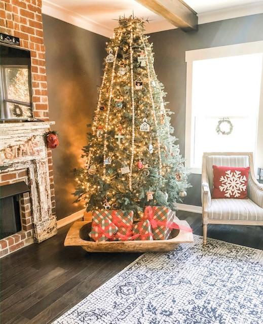 christmas dough bowl fireplace