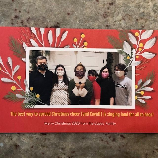Buddy the Elf, Christmas card ideas, family christmas card, covid, 2020