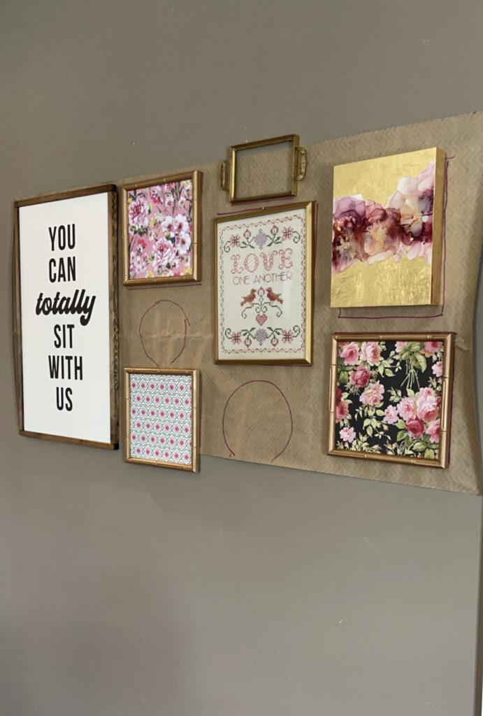 gallery wall hanging
